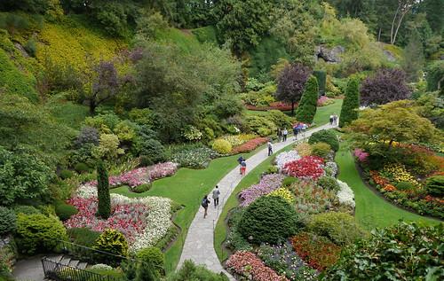 thebutchartgardens butchart victoria garden britishcolumbia sunkengarden vancouverisland canada