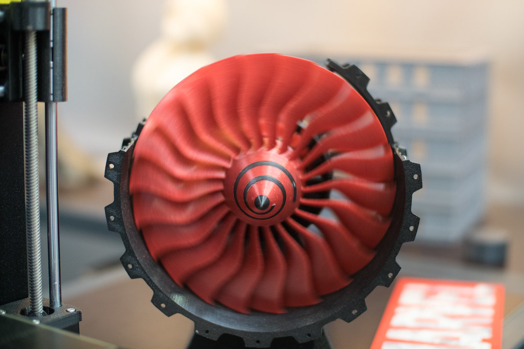 3D printed blades of a small jet engine | Shot on Canon EOS