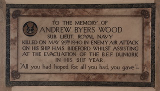 killed in enemy air attack on his ship HMS Bideford whilst assisting at the evacuation of the BEF Dunkirk