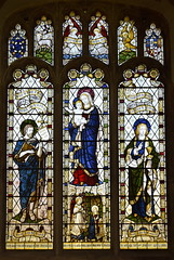 Blessed Virgin and child flanked by St John the Baptist and St John the Evangelist (Burlison & Grylls, 1904)