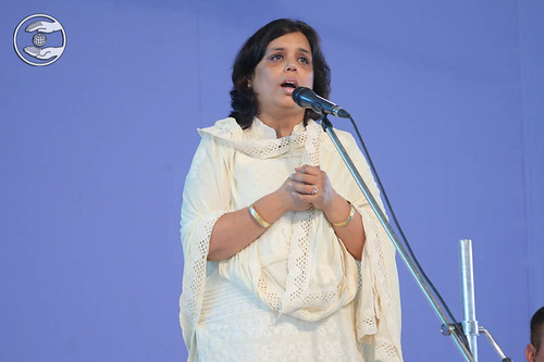 Shikha Grover express her gratitude by speech, Dwarka