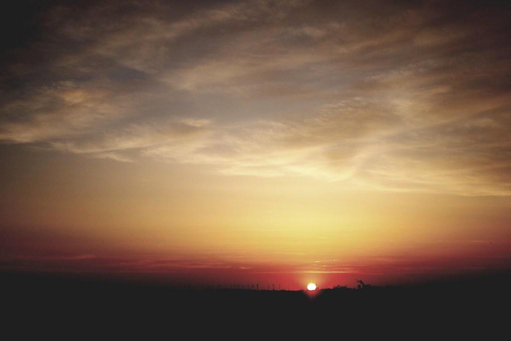 Sonnenaufgang im Rheinland