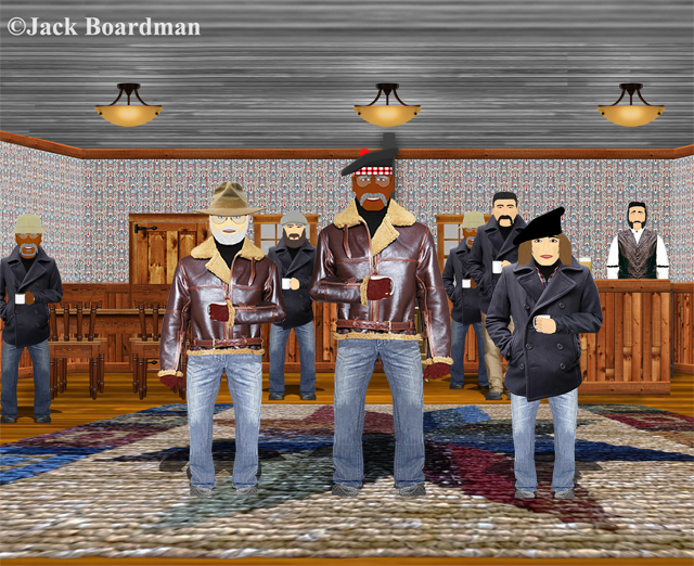 Mac & Boomer inside Josie's Bar ©JBoardman