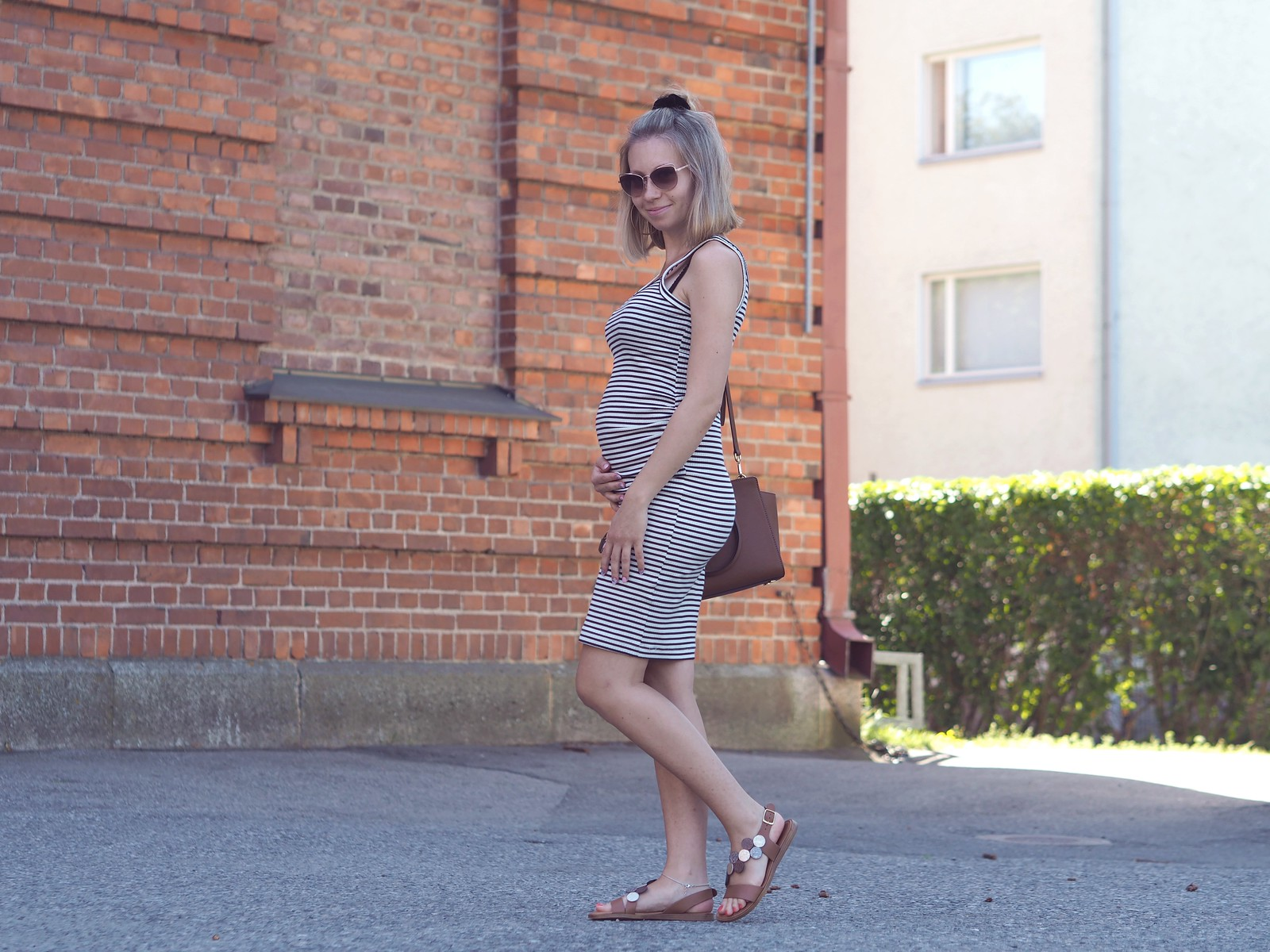 striped mama dress