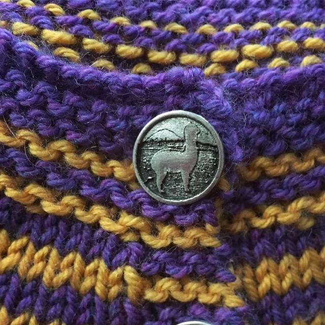 Pewter llama buttons