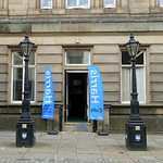 Re-opened entrance to the Harris Museum in Preston