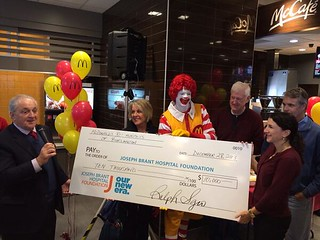 Ribbon Cutting With Ronald