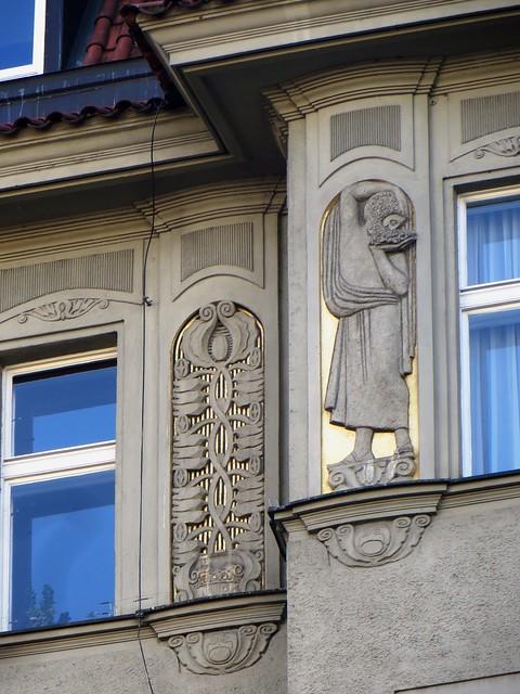 Beautés art nouveau, Josefov, Stare Mesto, Prague, République tchèque.