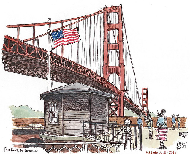 SF GG Bridge from Fort Point
