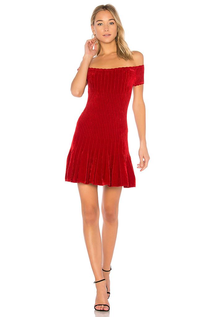 Ronny Kobo Womens Karin Dress Slim Red Size S