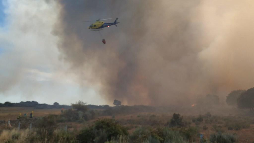 Fuego en Saldeana.  (7)