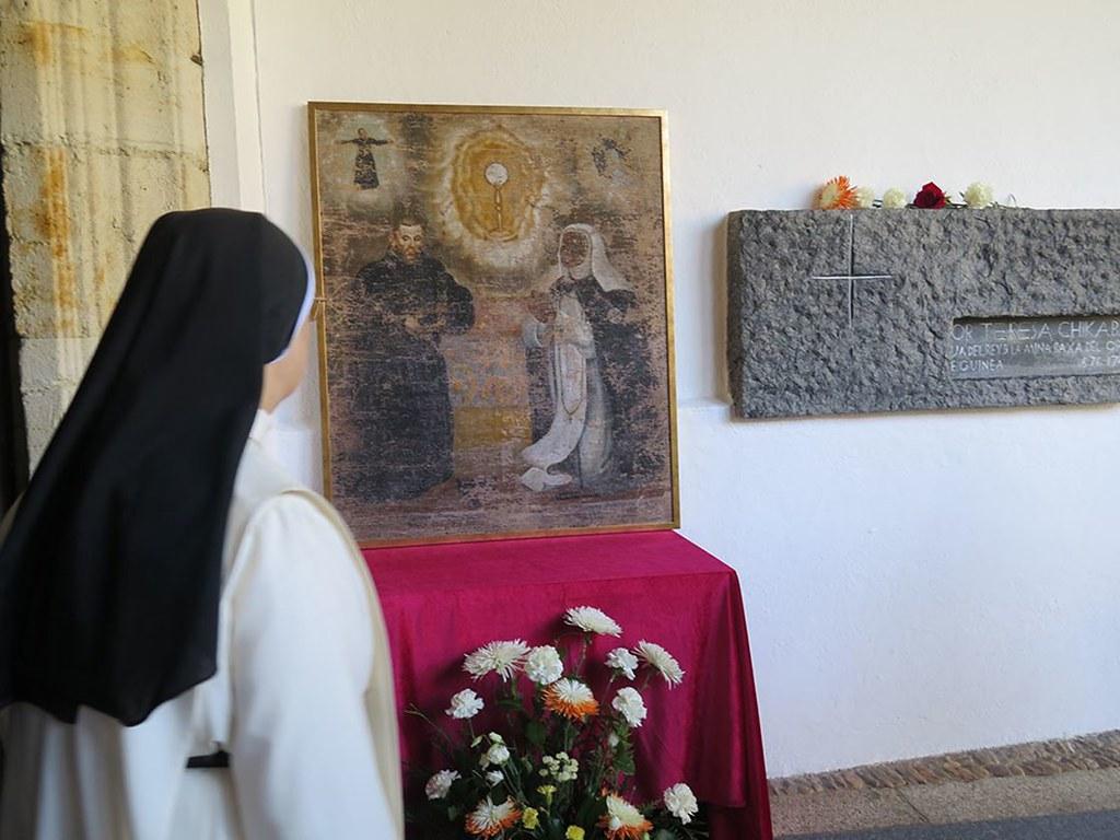 El cuadro regalado por la Junta a las madres Dominicas.