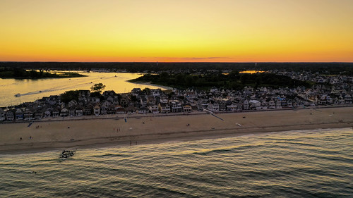 The sun sets over Manasquan, captured by a DJI Mavic 2 Pro drone (8/11/2019). | by apardavila