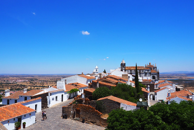 Looking across Monsaraz, Alentejo, Portugal