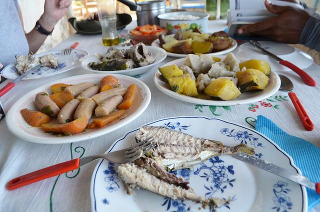 African feast, Santo Antao, Cape Verde