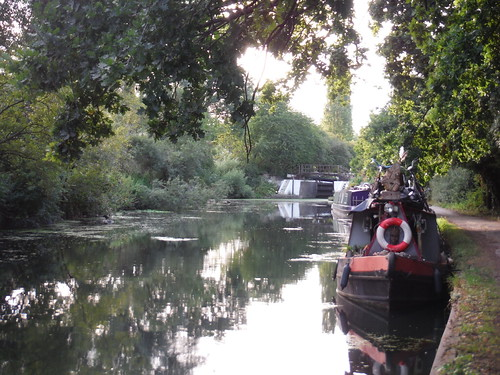 Barges on River Brent/Grand Union Canal SWC Short Walk 22 - Boston Manor to Osterley