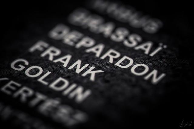 Arbus, Brassaï, Depardon, Frank, Goldin...