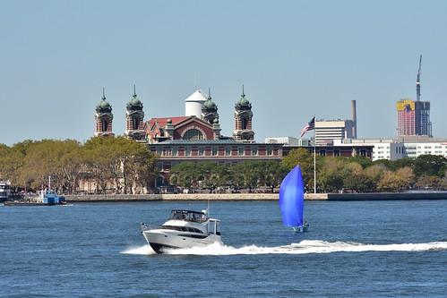 DSC_0381 Ellis Island & Speed & Sail Boat NY Bay