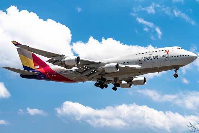 Asiana Airlines - Boeing 747-48E / HL7418 @ Manila