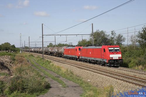 186 330 + 186 333 . DB Cargo . E 47061 . Warsage . 12.08.19.