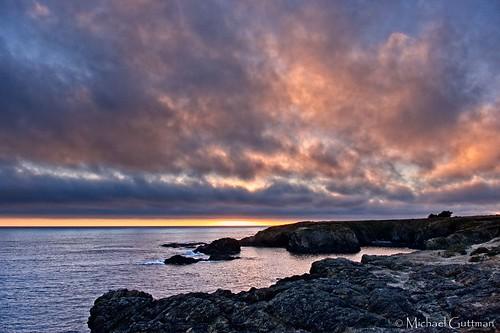 sunset ocean sky clouds sunsetcolors rocks mendocino california coast