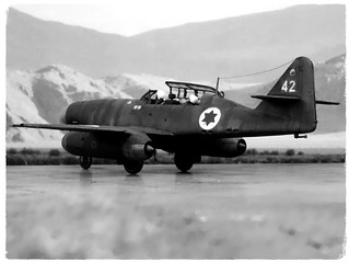 "1:72 Avia NS-92A, aircraft ""42"" of the חֵיל הָאֲוִיר (Kheil Ha'Avir, Israeli Air Force) 119 tajeset; Tel Nov, August 1955 (Whif/modified Heller kit) 