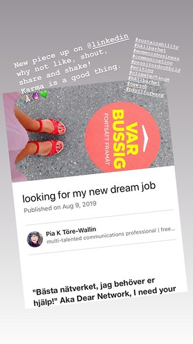 looking for my new dream job, august 2019