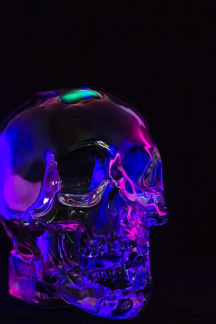 glass vodka skull