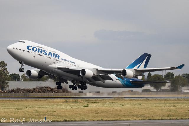 F-HSUN Boeing 747-400 Corsair Orly airport LFPO 12.08-19