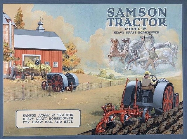 SAMSON tractor vintage advertising