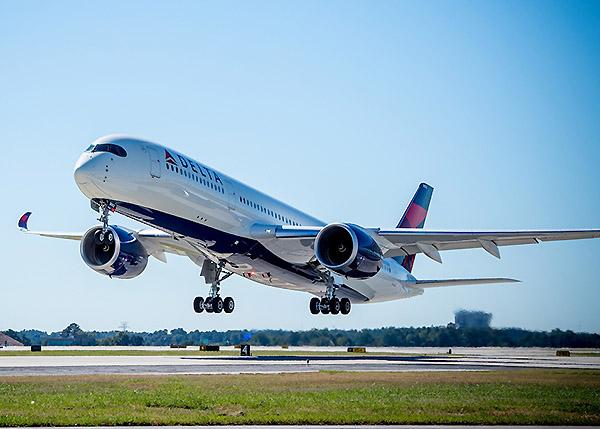 Delta A350-900 take off (Delta)
