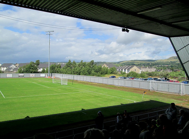 Dumbarton Football Stadium, From Home End of Stand
