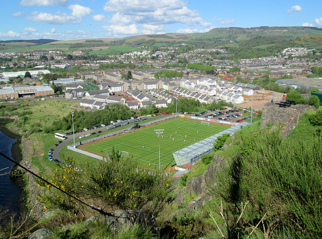 Dumbarton Football Stadium from Above