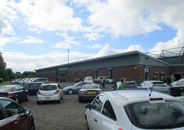 Dumbarton Football Stadium Main Entrance from Car Park Entrance