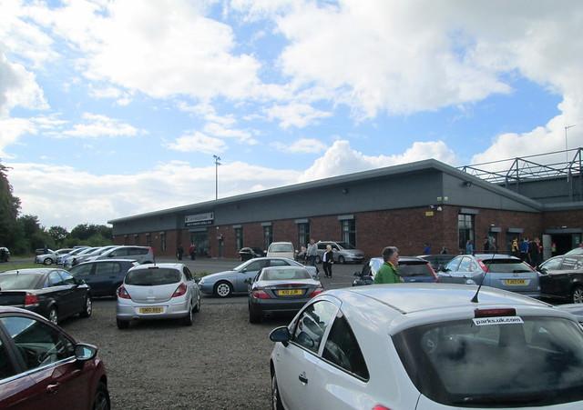 Dumbarton Football Stadium Main Entrance from Car Park Entrance