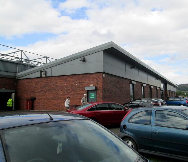 Dumbarton Football Stadium Stand from Car Park