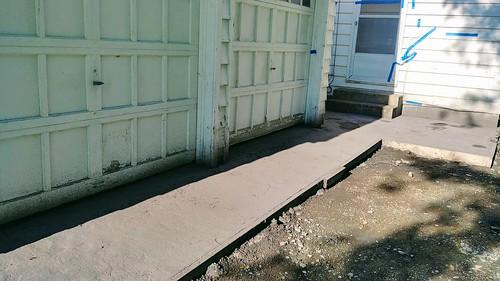 Garage Entrance - Concrete Poured