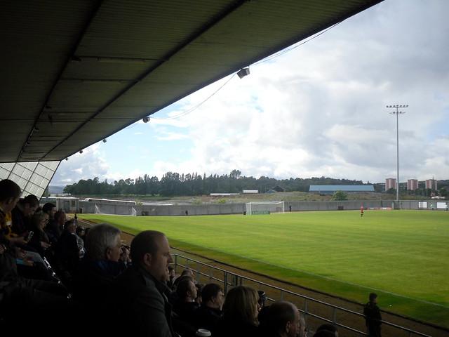 """""""Away"""" End of Pitch, Dumbarton Football Stadium"""