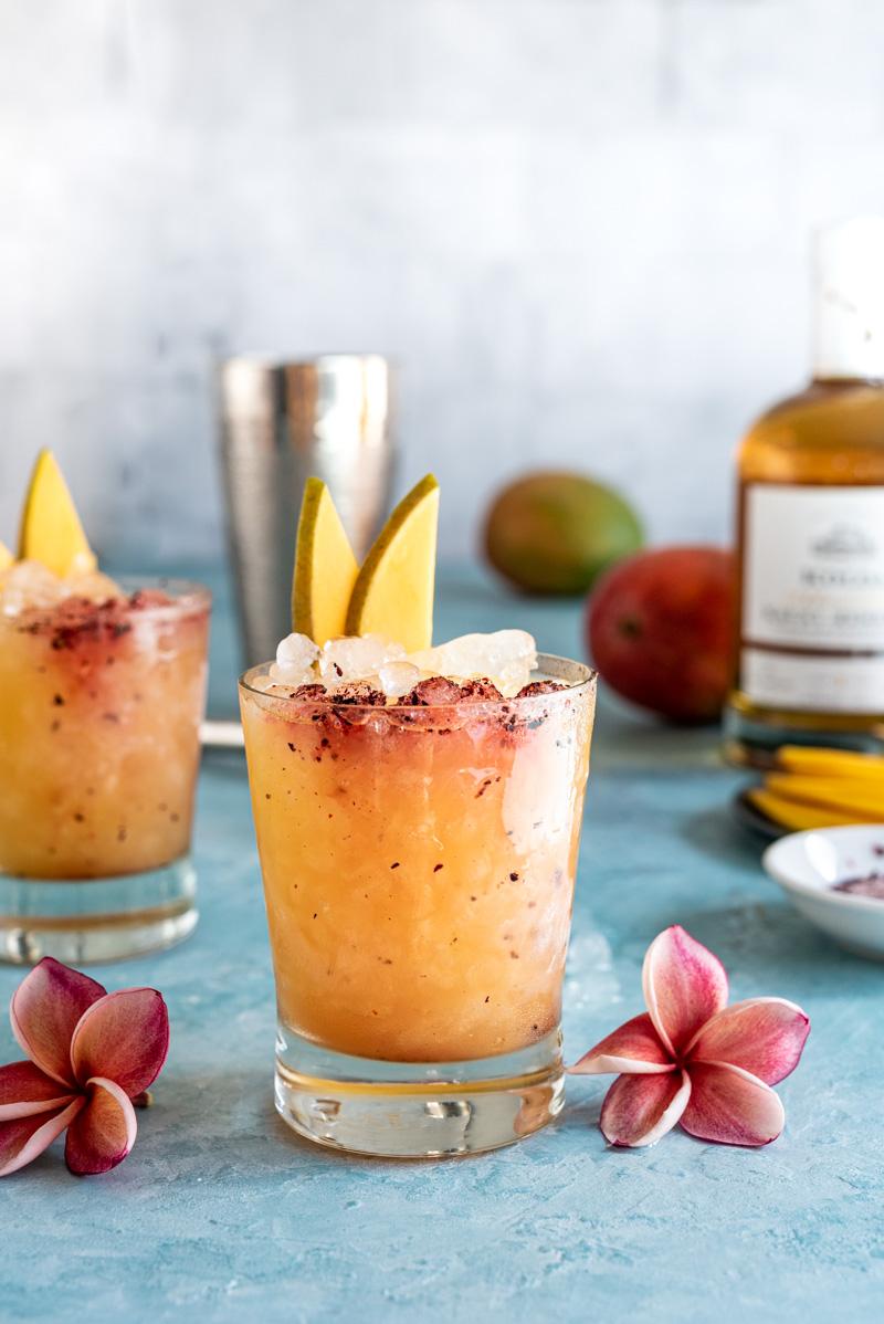 Spicy Mango Sake Rum Cocktail www.pineappleandcoconut.comCocktail www.pineappleandcoconut.com