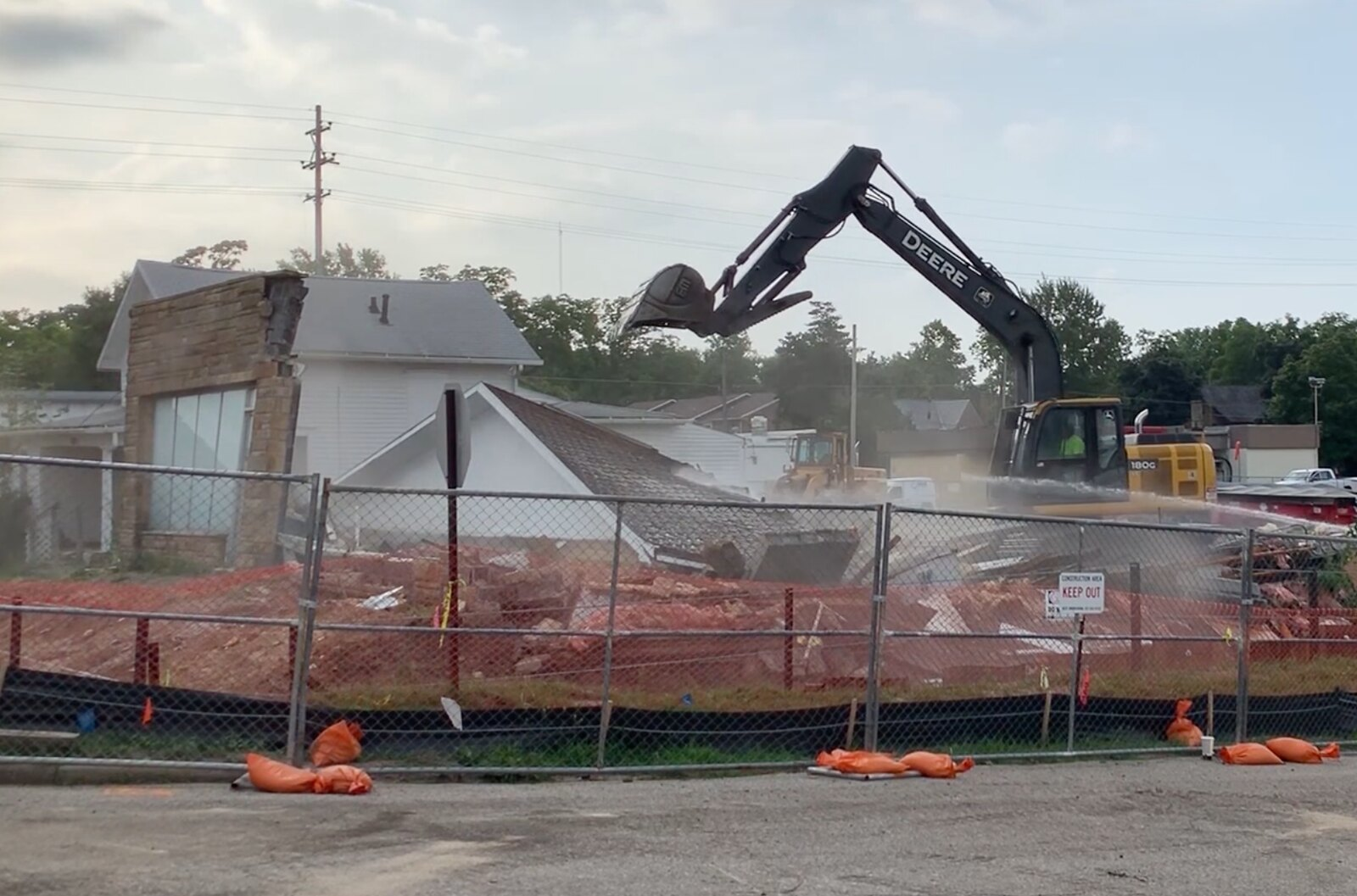 Downtown Okemos Demolition Begins
