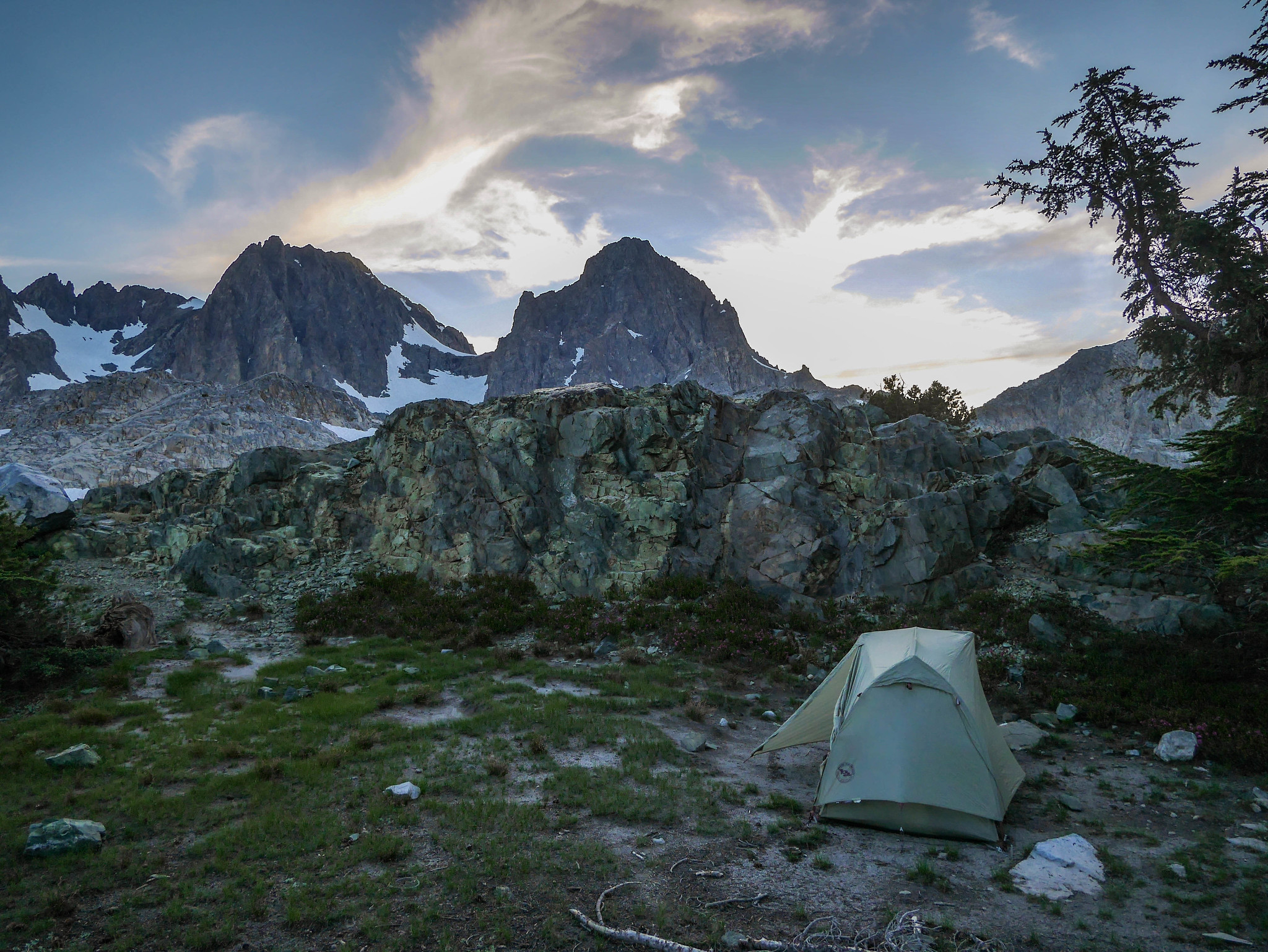 Camp above lower Nydiver