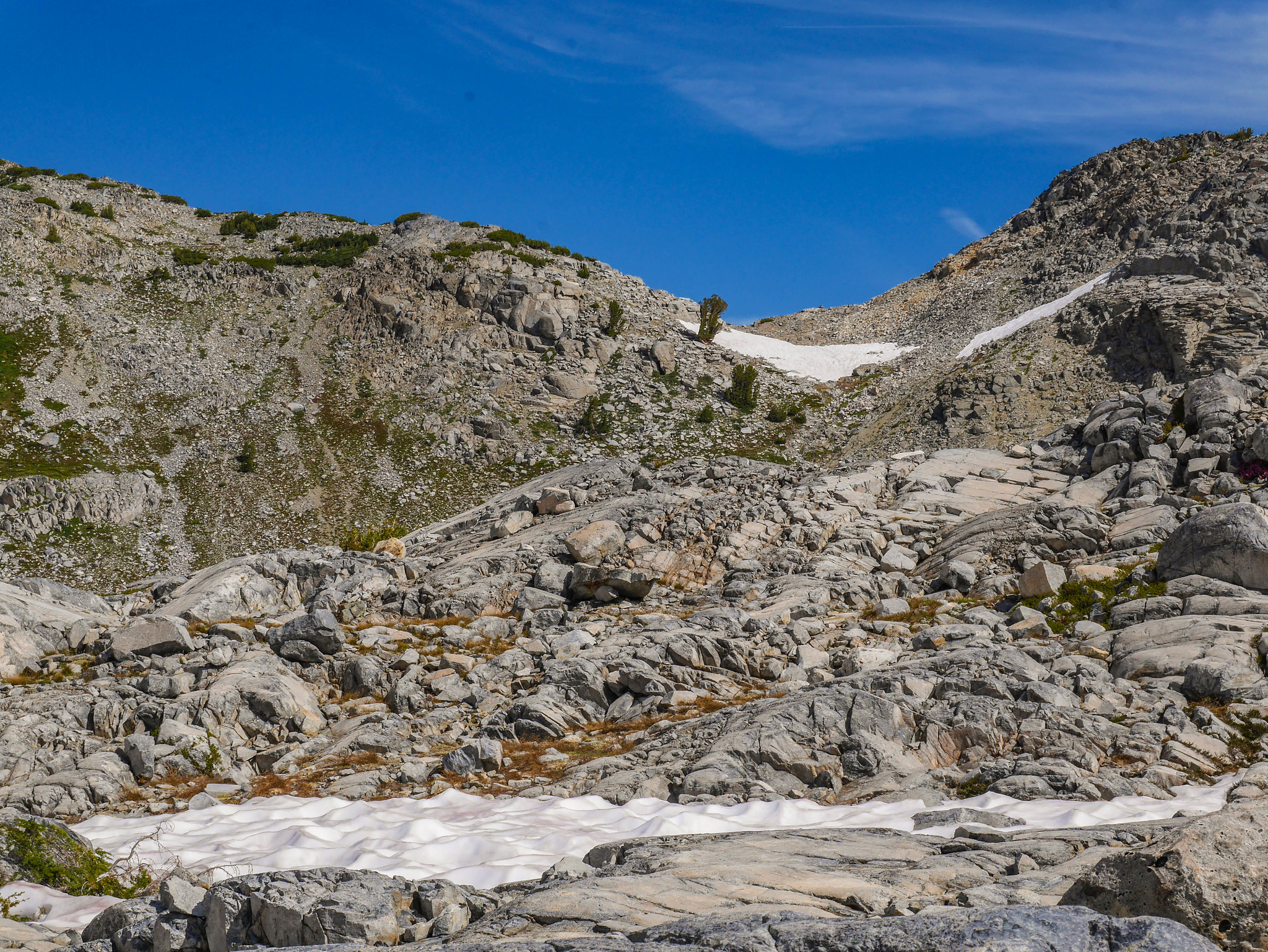 Making my way from lower to upper Nydiver lakes