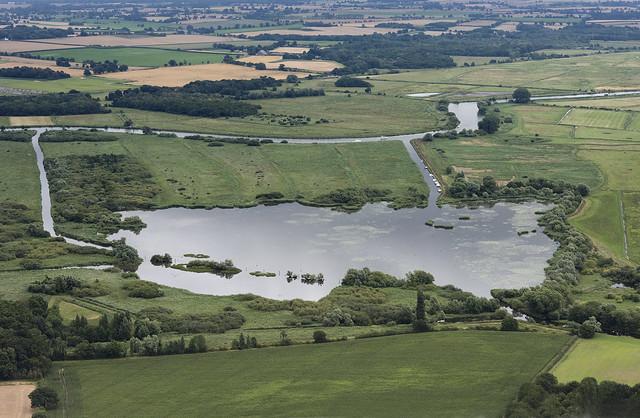 Rockland Broad & river Yare - Norfolk aerial image