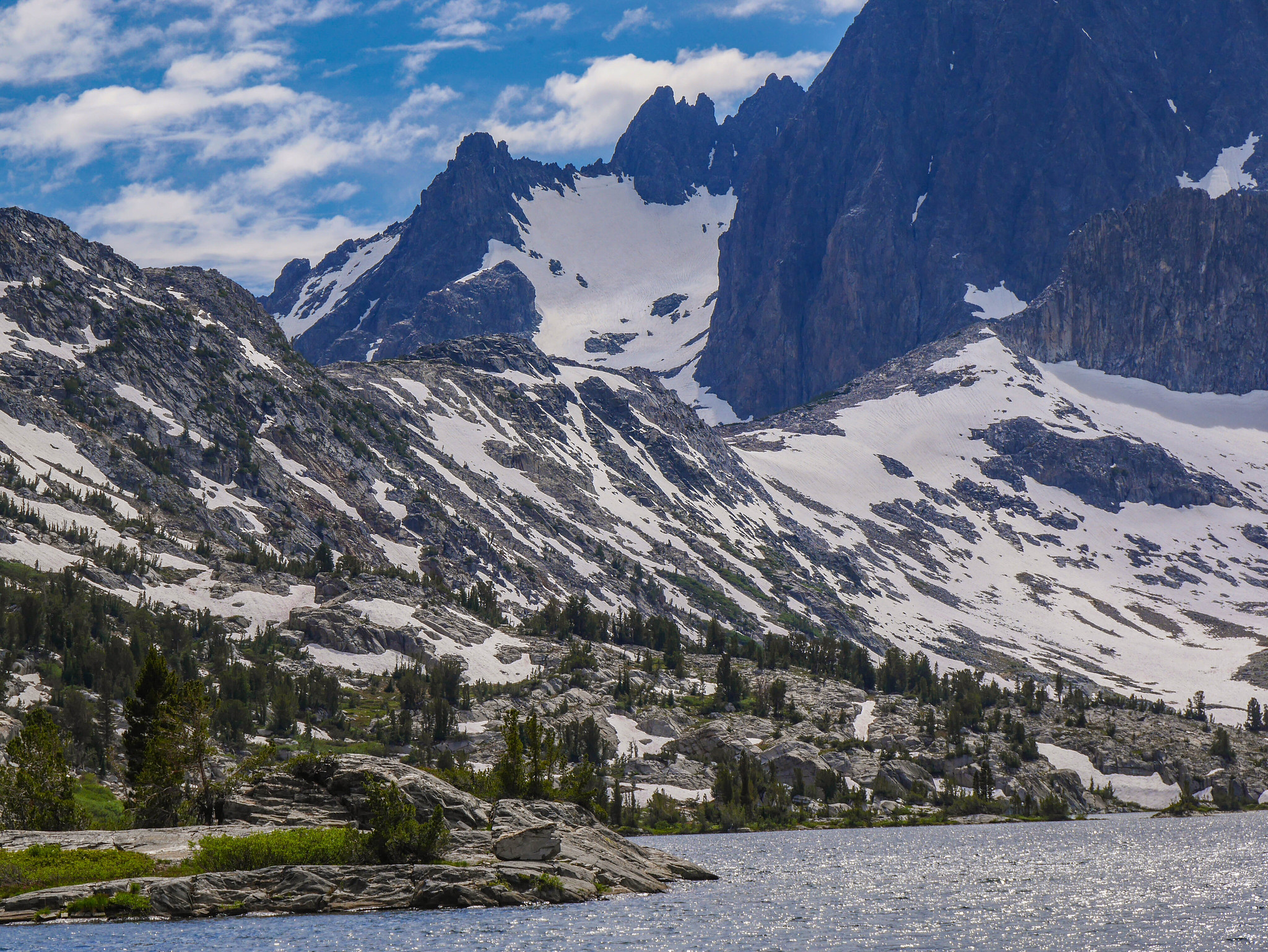 A look at Whitebark Pass. A lot of steep snow still!