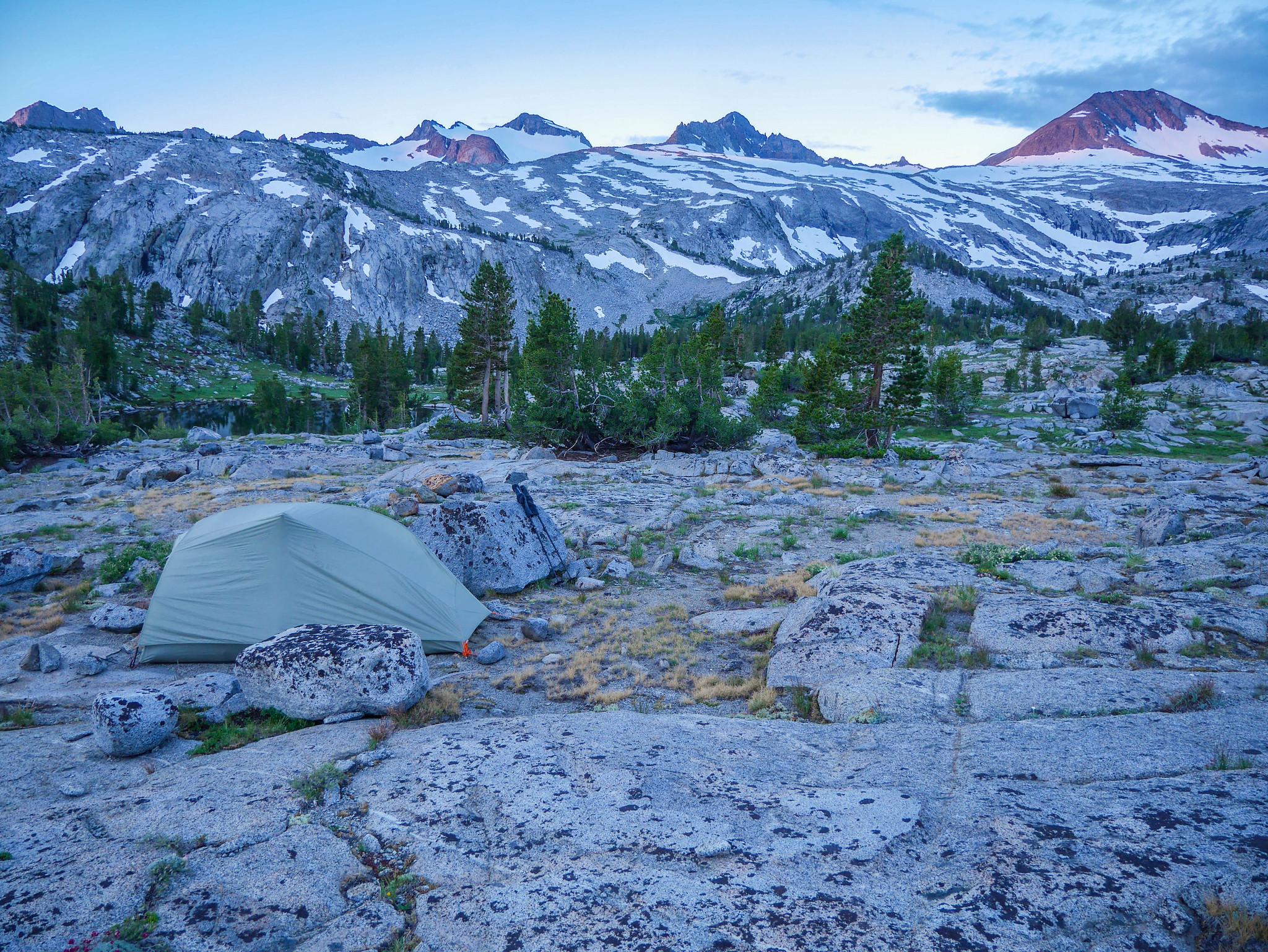 Camp in McClure Creek drainage
