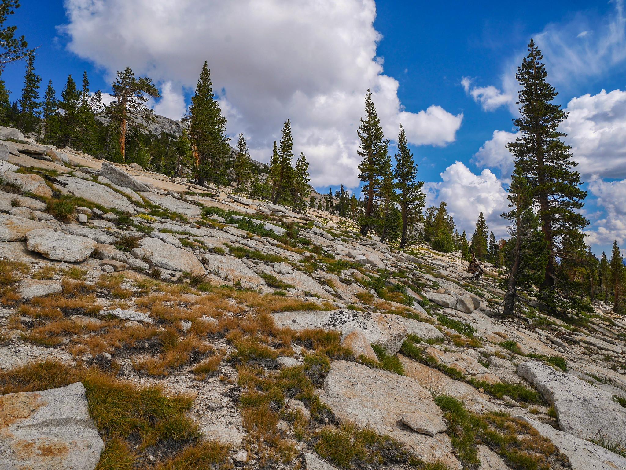 Climbing towards Johnson Peak