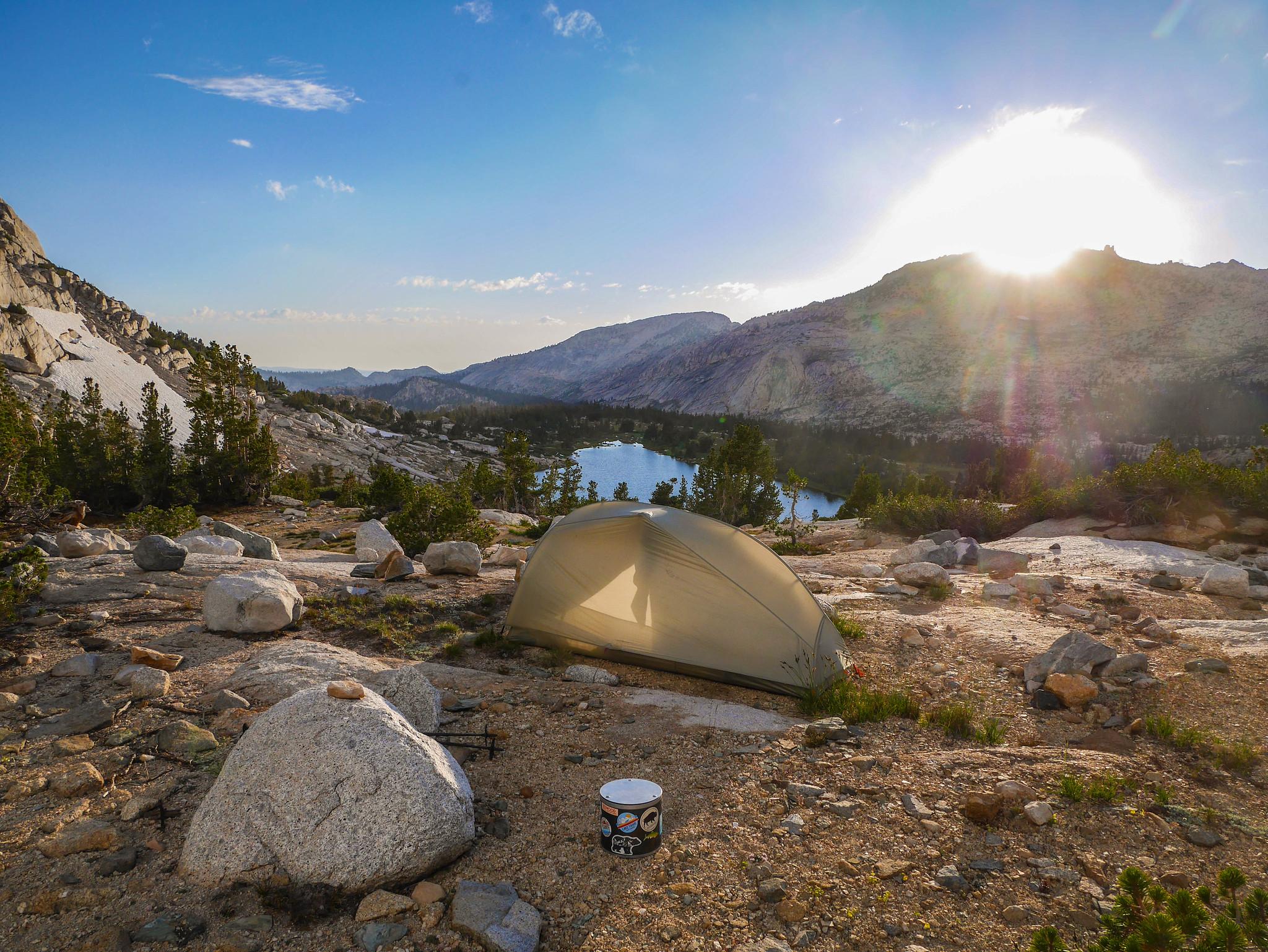 Camp near Townsley Lake