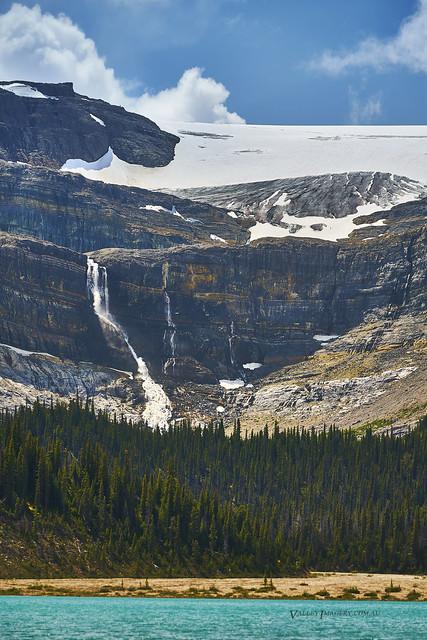Bow glacier melting away