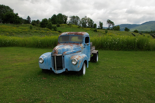 """An Old """"International"""" Pick Up Truck @ Cold Hollow Cider Mill - Waterbury VT."""