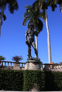David in the Ringling Museum courtyard